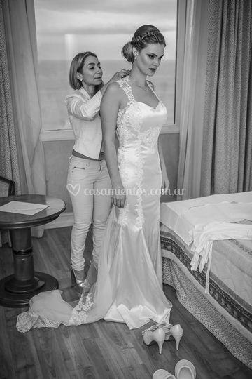 Preparando a la novia