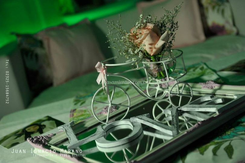 Bicicleta centro de mesa