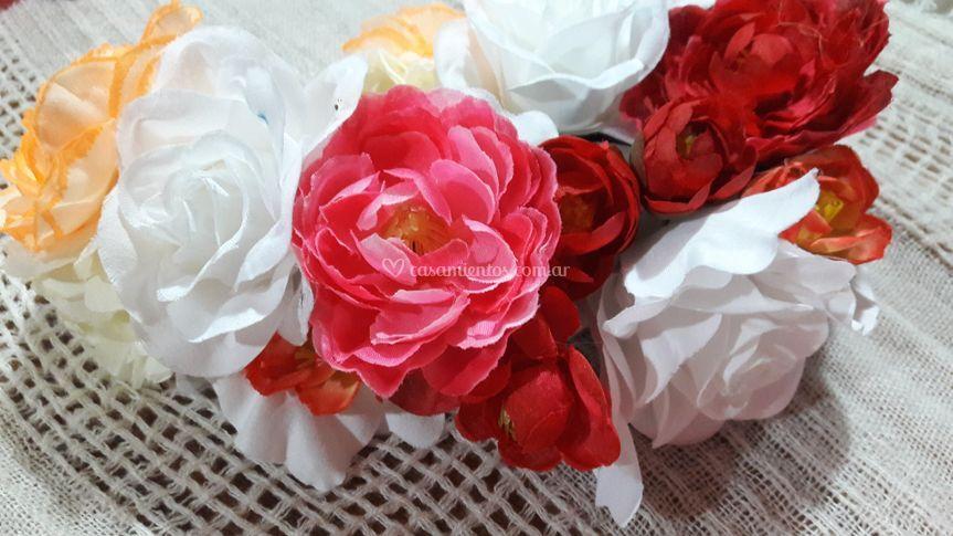 Vinchas con Flores de Alma Flora
