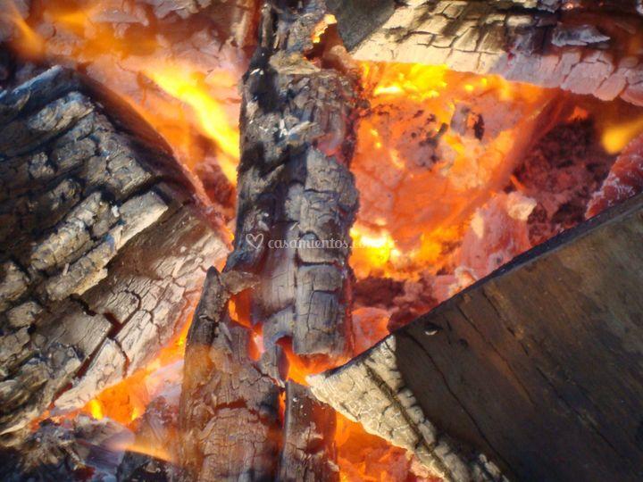 Menú de fuegos y estacas