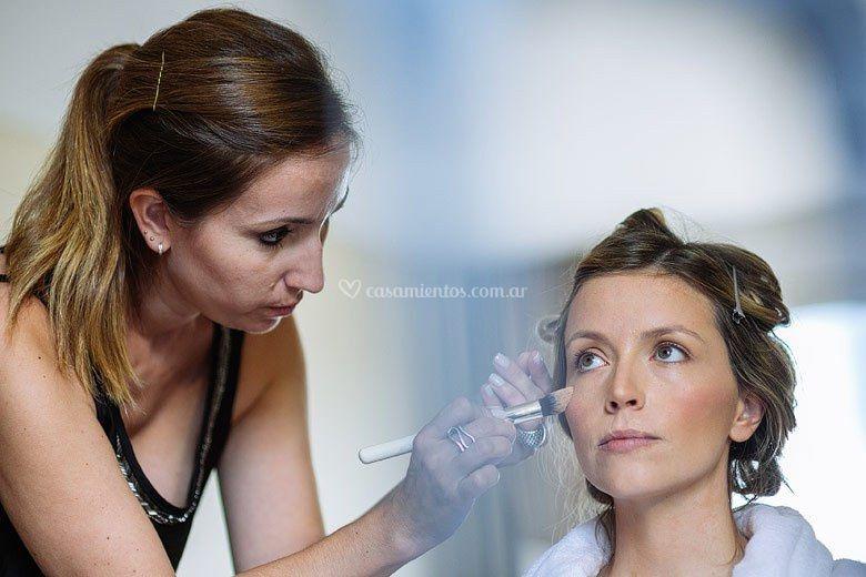 Maquillando a Jannu