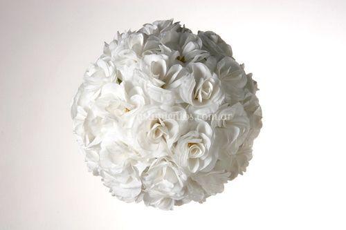 Esfera de rosas sin led
