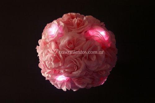 Esfera de rosas con led