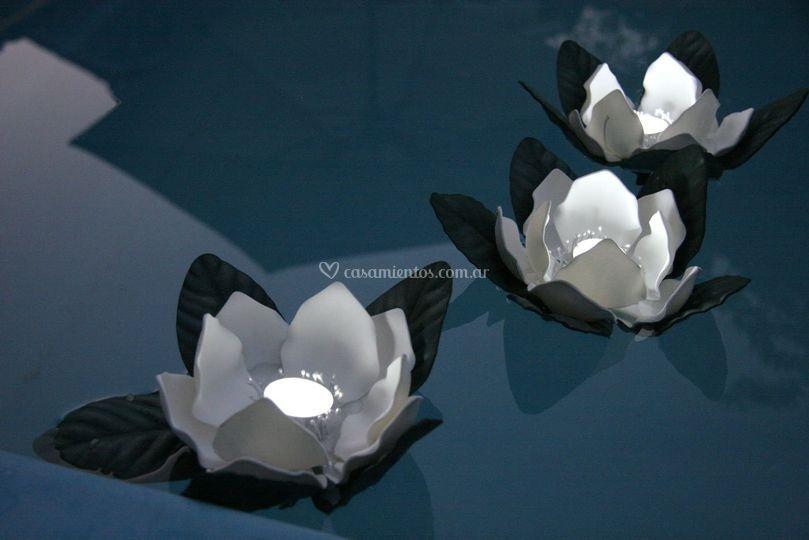 Magnolias con led
