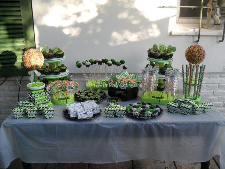 Candy bar en color verde