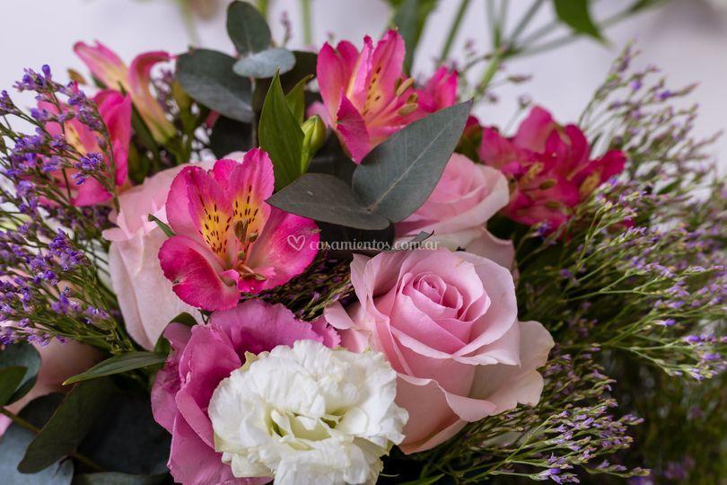 Mix de flores rosas