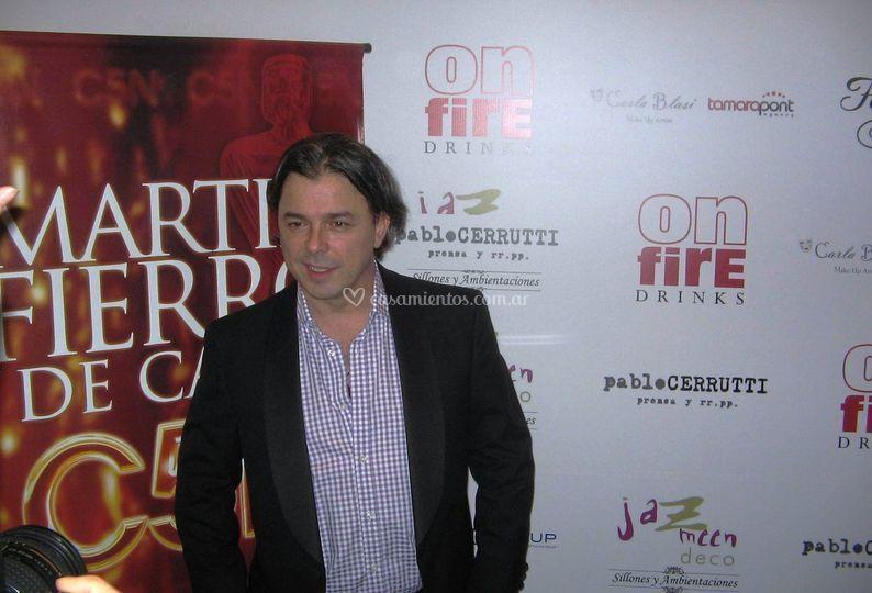 On fire drinks Martin Fierro