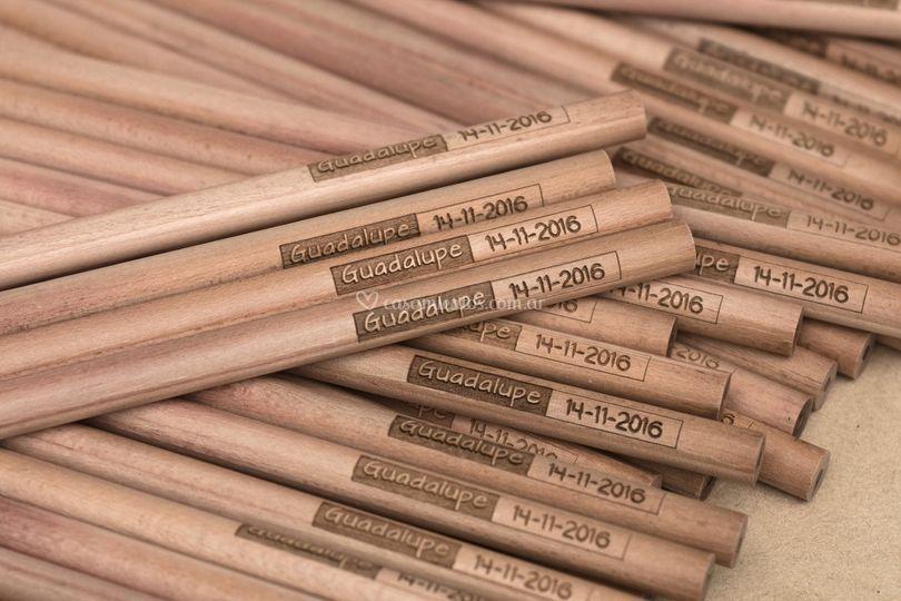 Lápices grafito de madera