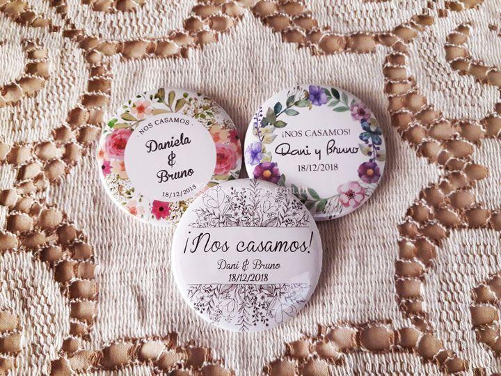 Pins de casamiento