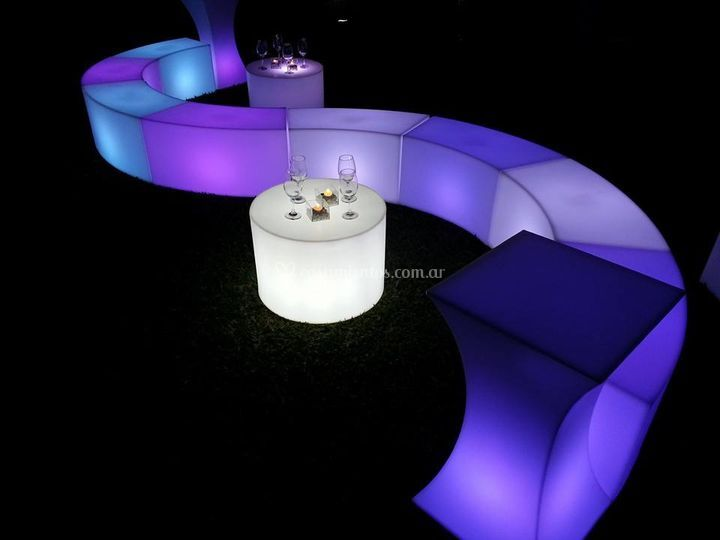Mobiliarios luminosos led rgb
