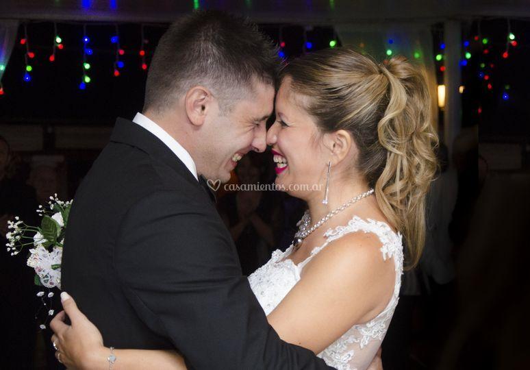 Felicidad de recién casados