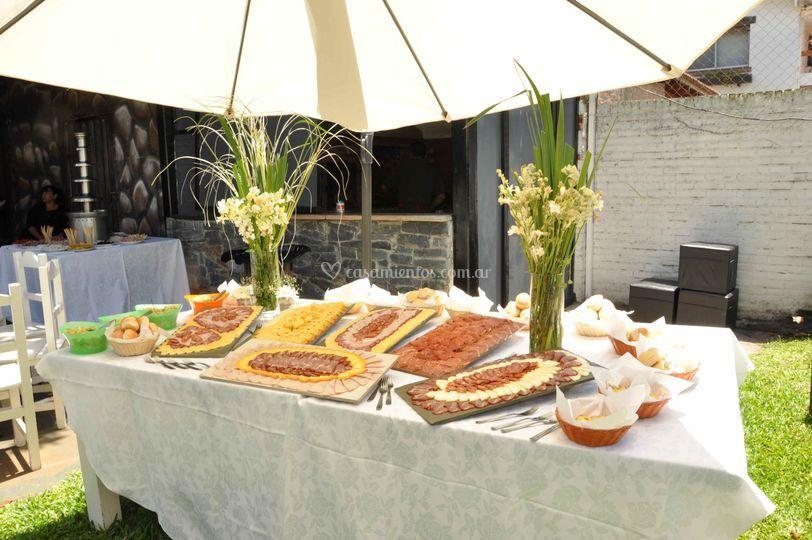 Gastronomía en recepción