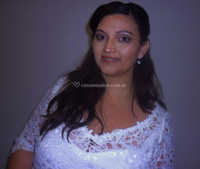 Makeup y peinado para novia