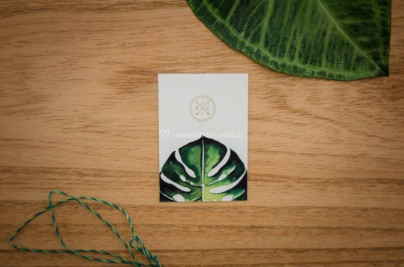 Tarjetita Halo Verde