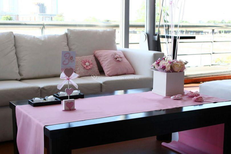 Ambientación en rosa