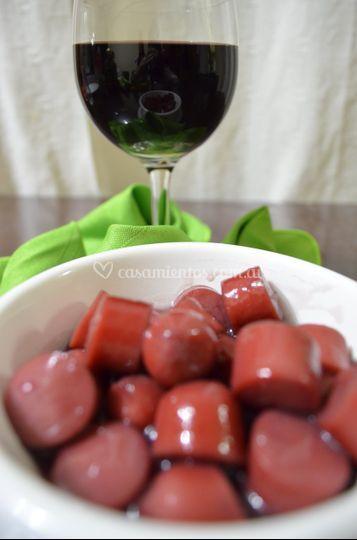 Salchichitas al vino titno