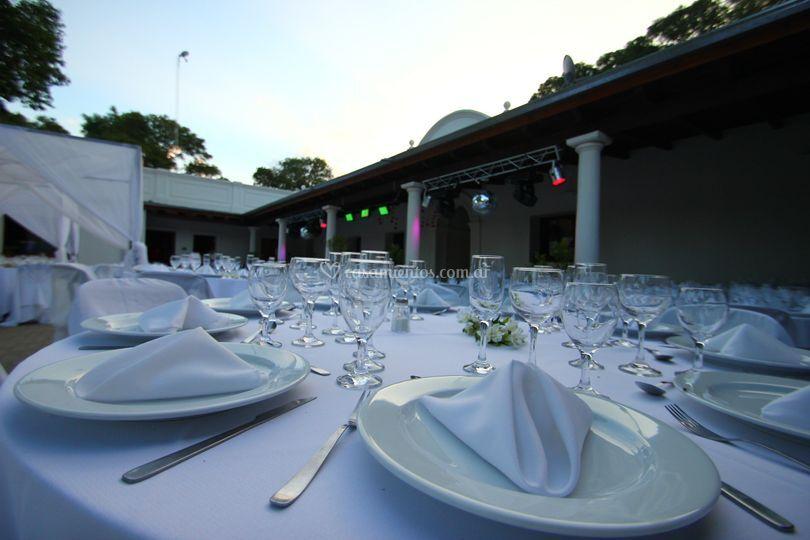 Salón para la cena