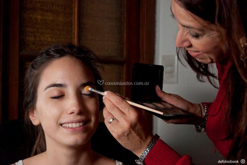 Maquillando para un book