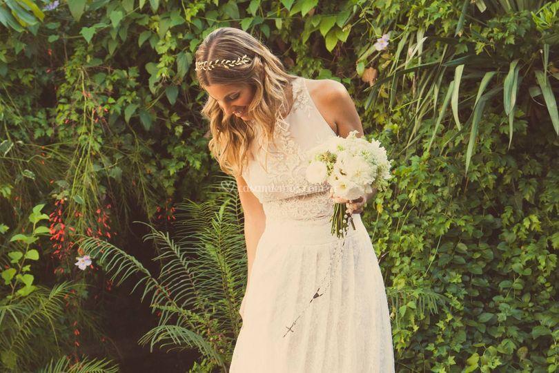 Peinado para una novia radiante