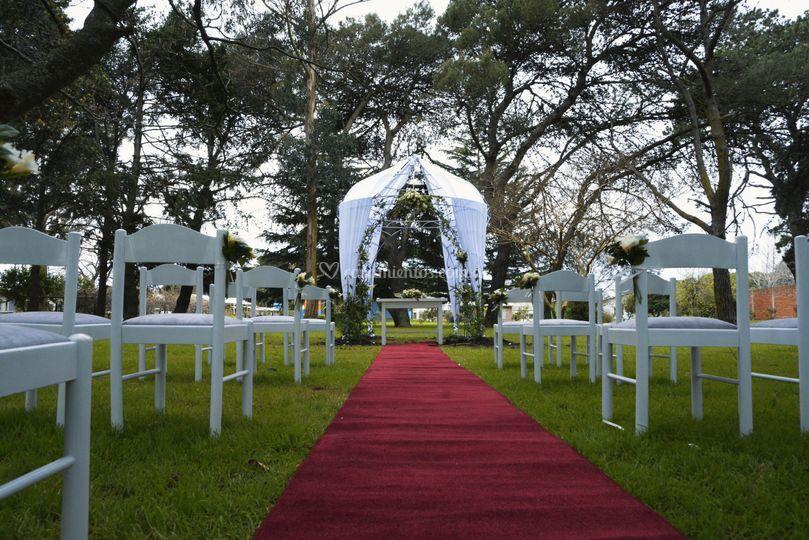 Area de pergola para ceremonia