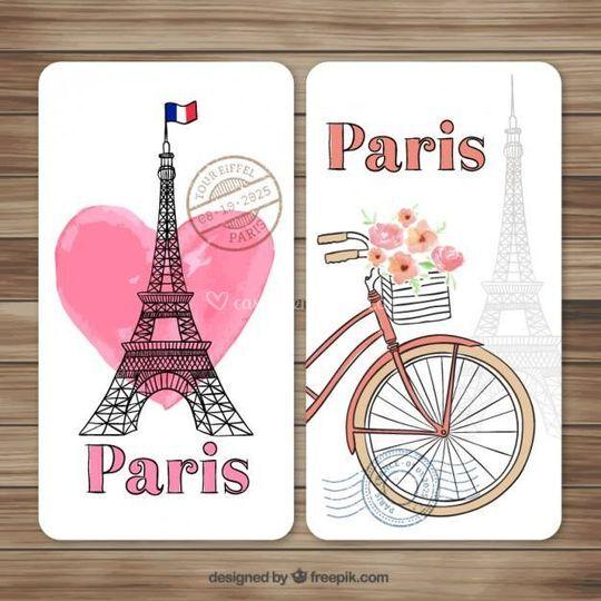 Tarjeta diseño Paris