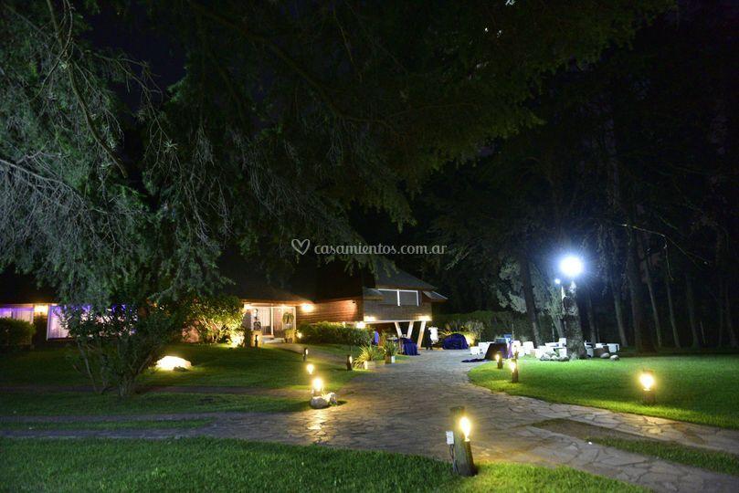 Parque iluminado