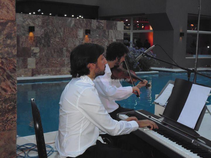 Violín y piano ceremonia