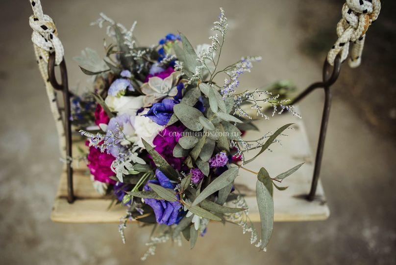 Hermoso ramo de boda