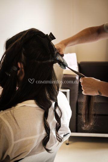 Comenzando el peinado