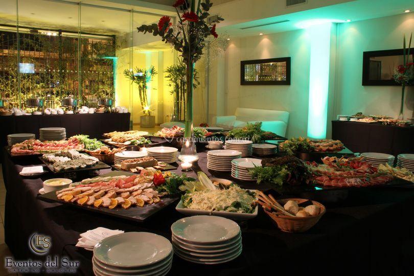 Vista parcial del buffet