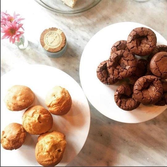 Muffins  y brownie