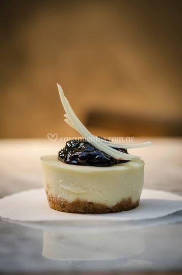 Cheesecake con confitura