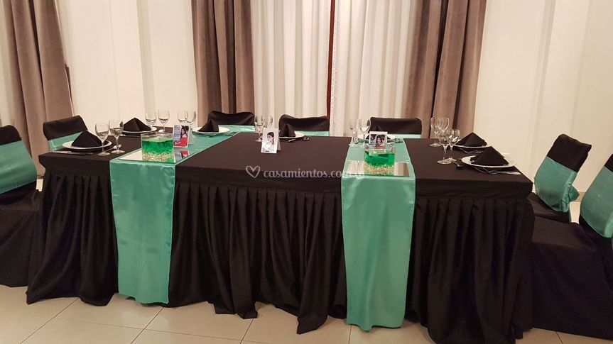 Mesa principal verde