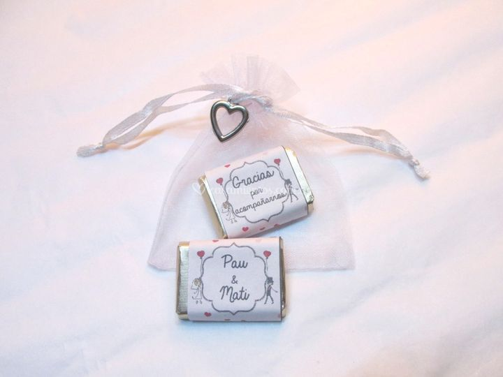Souvenir chocolatines con dije