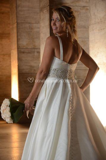 Luciendo el vestido