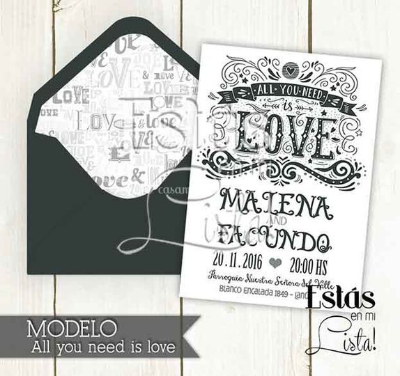 Modelo: All you need is love