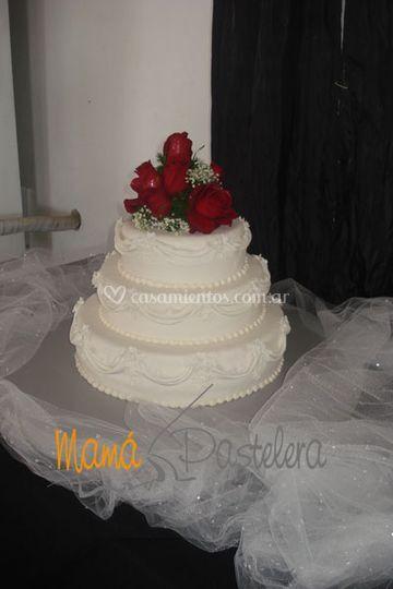 Tortas de bodas con flores