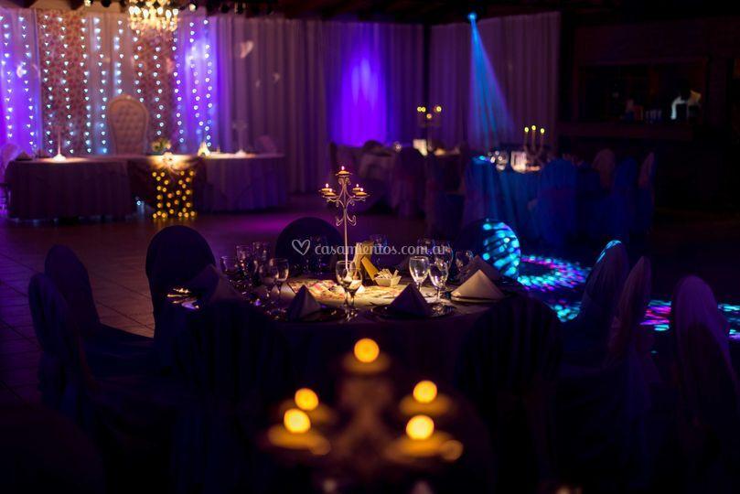 Centros de mesas candelabros