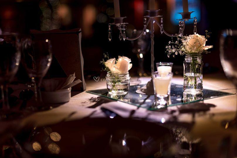 Rosas y candelabros