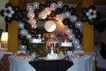 Mesa dulce central en blanco y negro de La T�a Vanna
