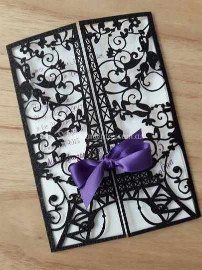 Paris Glitter Negro