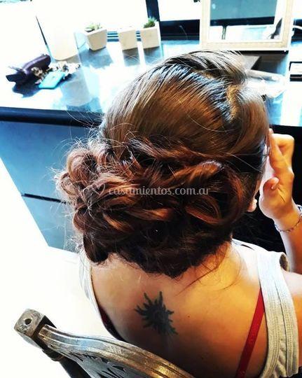 Prueba peinado recogido novia