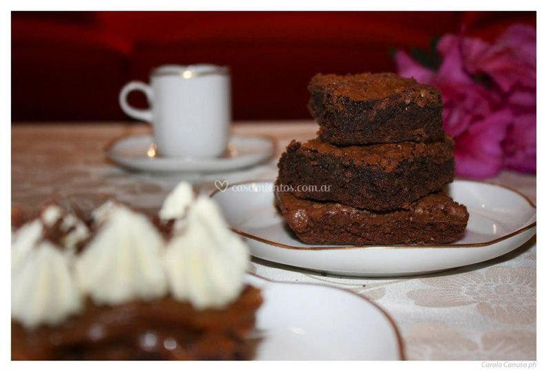 Petit fours brownies