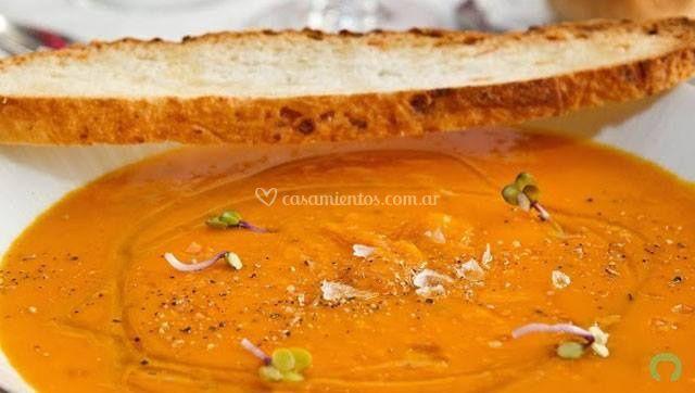 Sopa de vegetales asados
