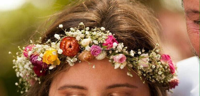 Corona flores naturales