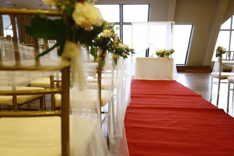 Sillas Tiffany y ceremonia