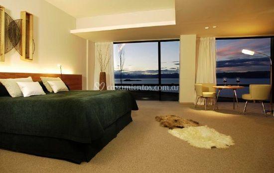 Habitación y ventanales