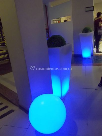 Macetones de led