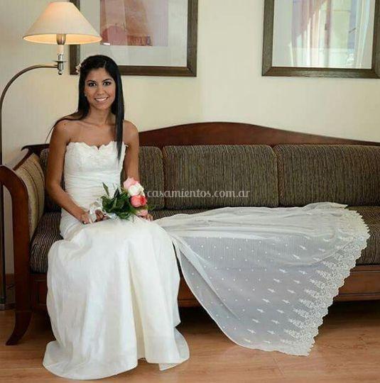 Vestido drapeado  tafetan