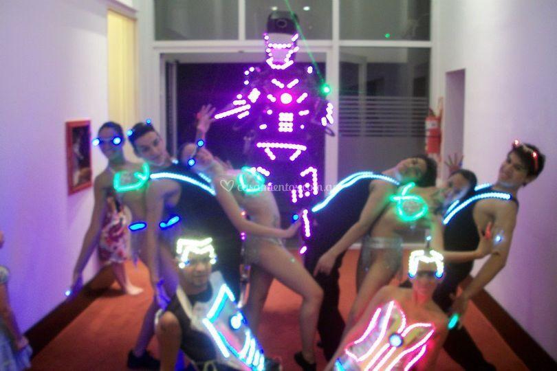 Bailarines con Led